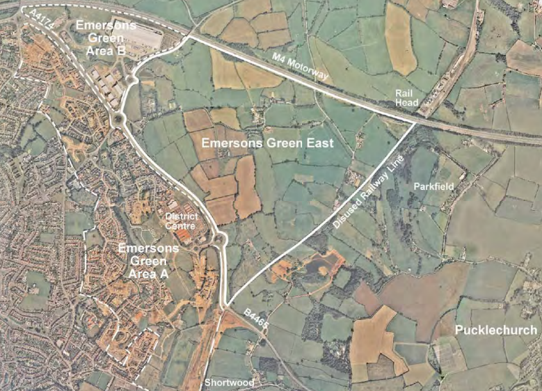 lyde green map