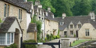 photo ofhouses in castle combe wiltshire